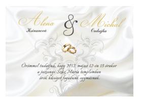 luxus esküvői meghívók